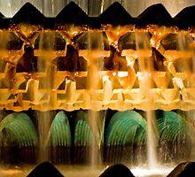 Pineapple Fountain at Night by Peter Van Egmond
