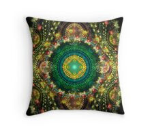 Shield of the Green Knight Throw Pillow