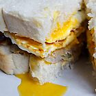 Egg & Sausage Sandwich by clivester