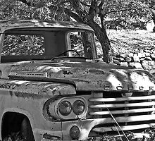 Retired Dodge B&W by VisionsbyCheryl