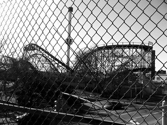 Cyclone from the Subway Bridge b/w by SylviaS