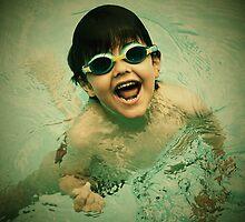 swimming in pool by daniwillis