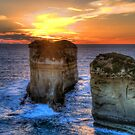End Of Day - Twelve Apostles - Great Ocean Road - The HDR Experience by Philip Johnson
