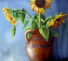 Sunflowers in a Vase by Dominica Alcantara