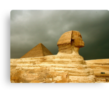 Great Sphinx & Pyramid of Khafre Canvas Print