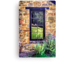 Side window, Lavender Fields Cottage Canvas Print