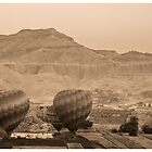 Dawn Hot Air Balloon over Valley of the Kings - Egypt by kelliejane
