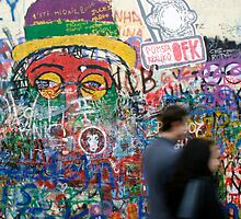 John Lennon wall in Prague by wichwetyl