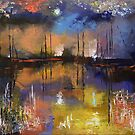 Fireworks Painting by Michael Creese