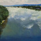 Ohio River Painting by Michael Creese