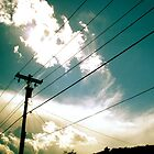 Between the Sky and Powerlines by BeccaAlysse