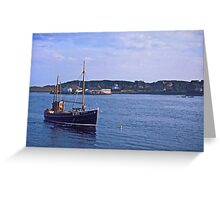 Fishing boat returning to Killybegs Harbour, Donegal, Ireland, circa 1959 Greeting Card
