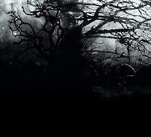 Spooky Tree in Graveyard by Mableism