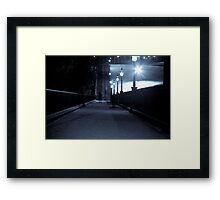 Ghost on The Playfair Steps - Edinburgh Framed Print