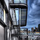 Walsh Bay Wharf stairs by Jason Ruth