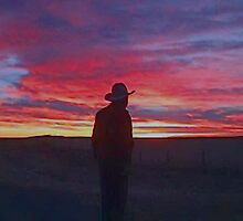 Cowboy Sunrise by Al Bourassa