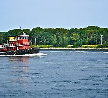 Tug Boat On Cape Cod Canel - © 2009 by Jack McCabe