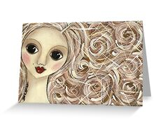 Brownhair doll Greeting Card