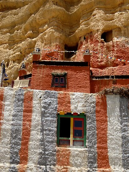 Cave Temple, Upper Mustang, Nepal by photoartindia