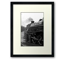 Getting Steam Up Framed Print
