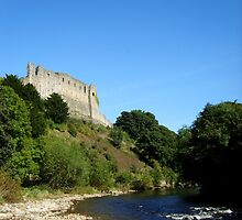 Richmond castle above the river swale by Mat Robinson