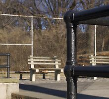 Metal Pipe Fence @ Riverside Park, NYC by Henri Irizarri