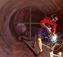 Self-Repairing Man by ArtGecko
