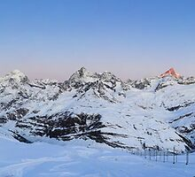 Sunrise from Gornergrat by peterwey