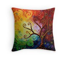 Twisted by Intentions Throw Pillow
