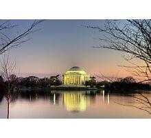 Jefferson Memorial at Dusk Photographic Print