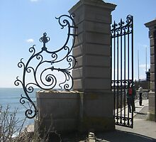 Gate on the Cliff Walk by Cawritergirl