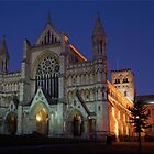 St. Albans Abbey by Evening by Greg Webb