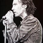 Eddie Vedder of Pearl Jam by whiterabbitart