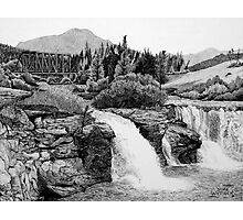 Lundbreck Falls Photographic Print