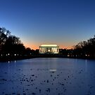 Last Light at the Lincoln Memorial by Terence Russell