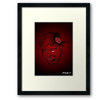 Even Zombies Have Bad Hair Days Framed Print