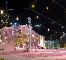Federation Square Lightshow, Melbourne by Darren Greenwell