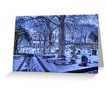 Snow on Alderney Greeting Card