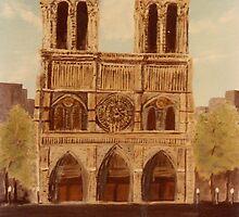 Notre Dame Cathedrel -acrylics on canvas by Gordon Pegler