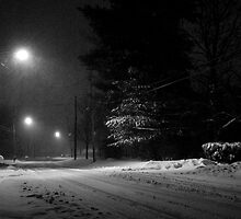 Snowy Night at Home by Mike Donovan
