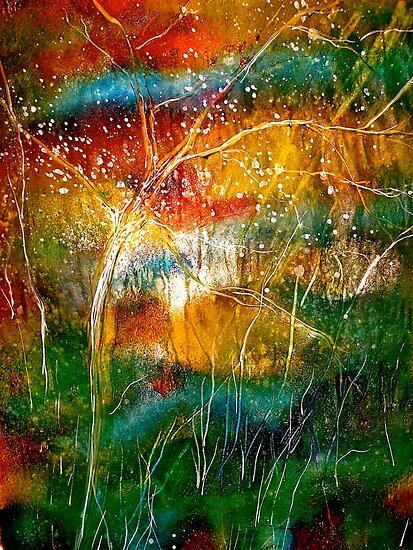 Abstract Landscape.....Serendipity by  Janis Zroback