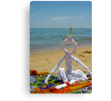 Dolly loves the beach Canvas Print