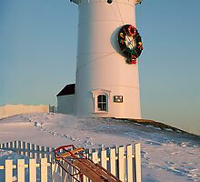 Nobska Light, Christmas by Nancy Bray