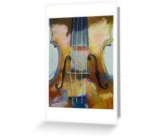 Violin Painting Greeting Card