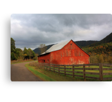 Red Barn in Poor Valley  Canvas Print