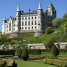 Dunrobin Castle, Scotland, from parterres below by BronReid