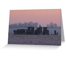 Moods of Stonehenge 2 - Predawn Greeting Card