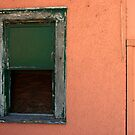 green window/pink wall by Lynne Prestebak