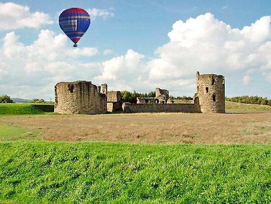 Hot Air Balloon Flight over Flint Castle, WALES by AnnDixon