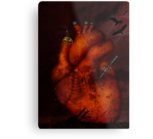 What Heart Are You? No 3: Tortured Heart Metal Print